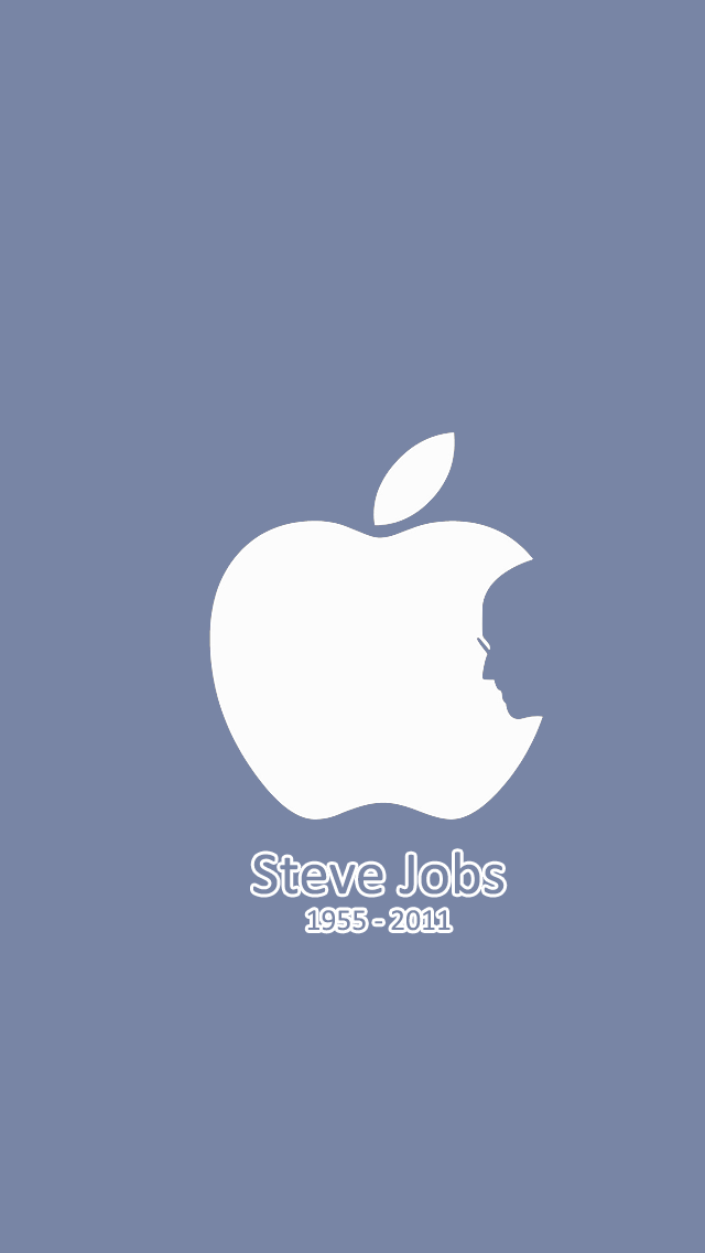 iPhone 5 Steve Jobs Apple Wallpaper Lock Screen by UzumakiKunn on 640x1136