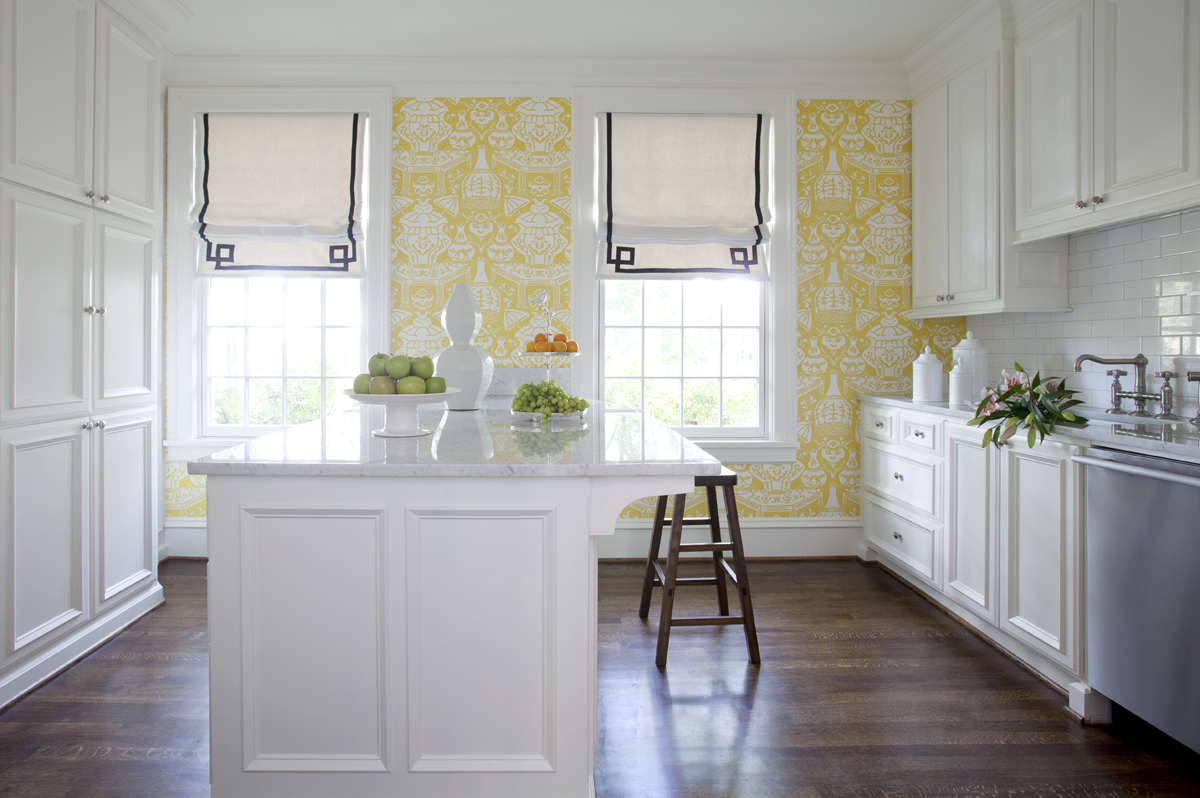 43 Yellow And Blue Kitchen Wallpaper
