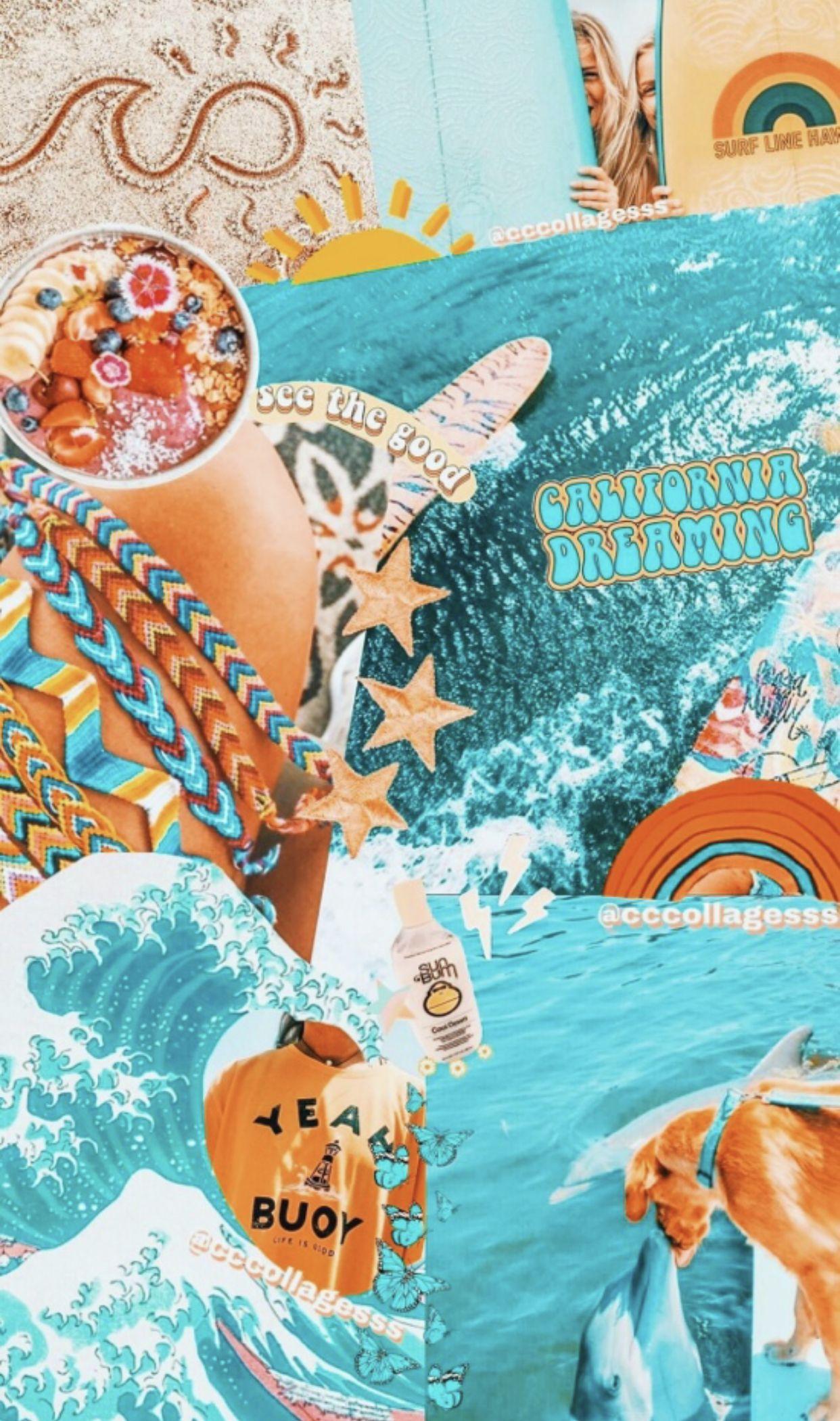 board vsco beach water ocean orange blue Vsco pictures 1242x2100