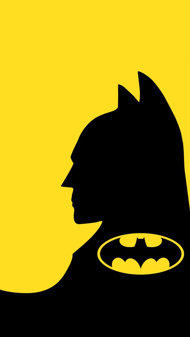 batman wallpaper yellow iOS 640x1136