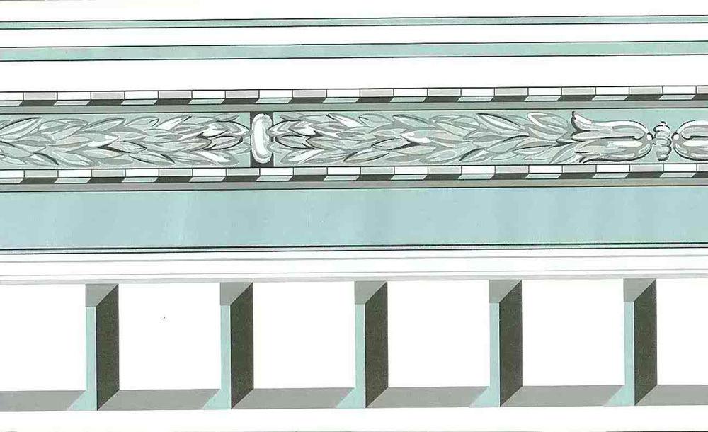 Blue Gray White Contemporary Wallpaper Border Geometric Pearlized 1000x610