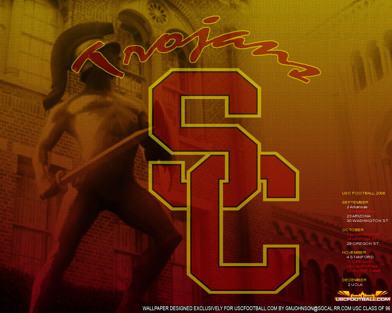 USC Wallpaper   1280x1024 schedule vertical 1280x1024