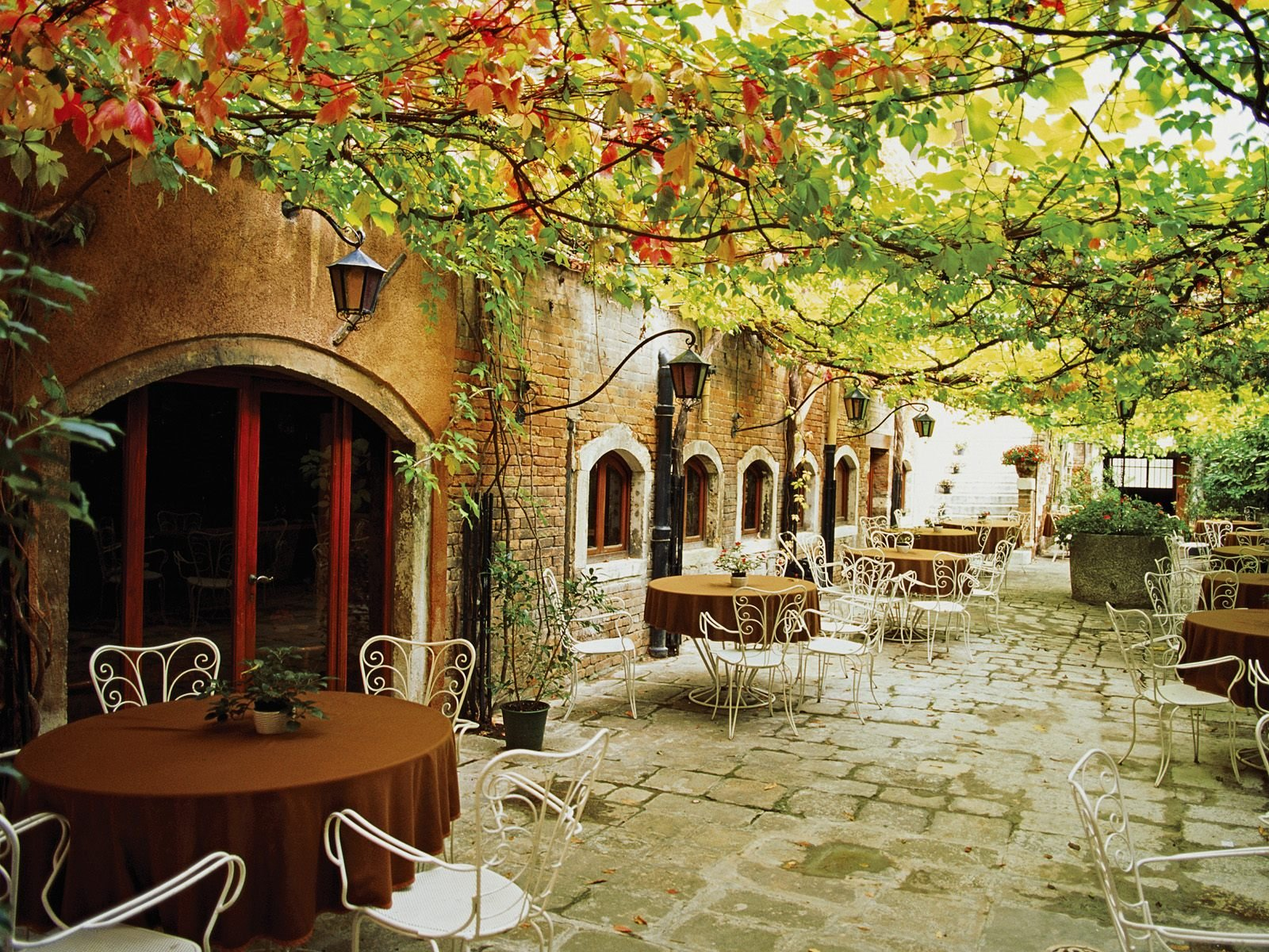 Dining Alfresco Venice Italy Wallpapers HD Wallpapers 1600x1200