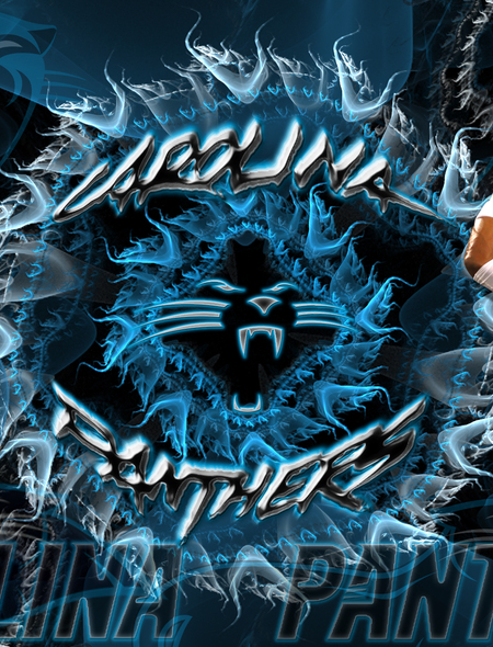 Carolina Panthers Explosion Wallpaper for Phones and Tablets 450x590