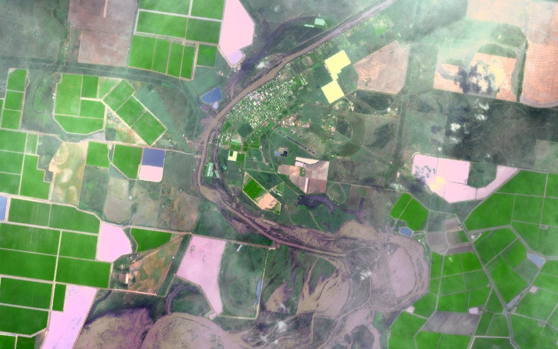 Space Images ASTER Images Continuing Flooding in Australia 1920x1200