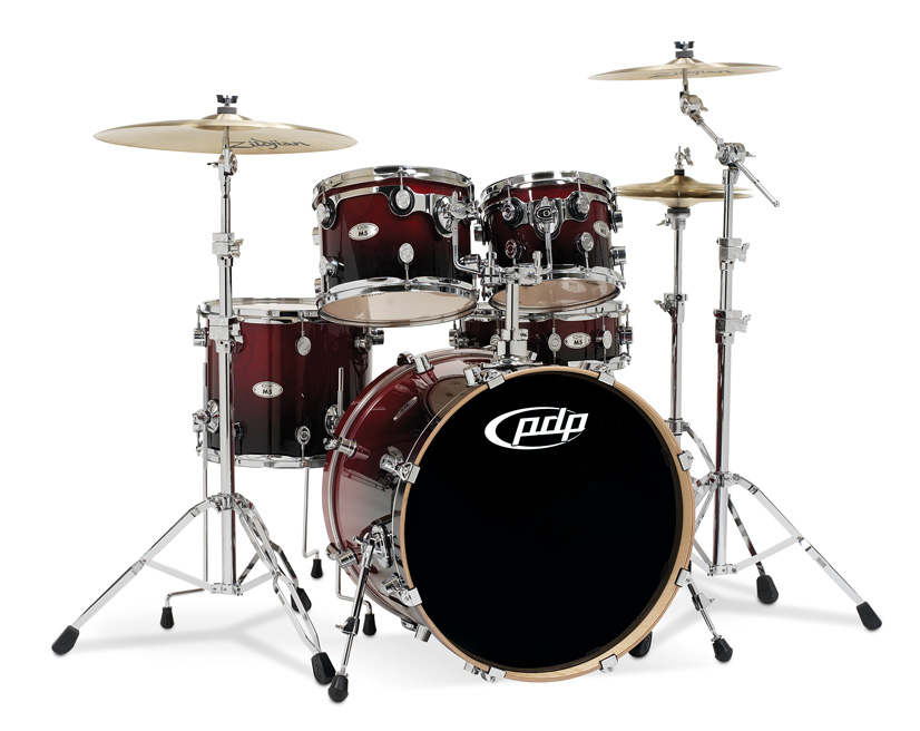 PDP Kits   Pacific Drums and Percussion M5 Series   Lacquered Cherry 826x656
