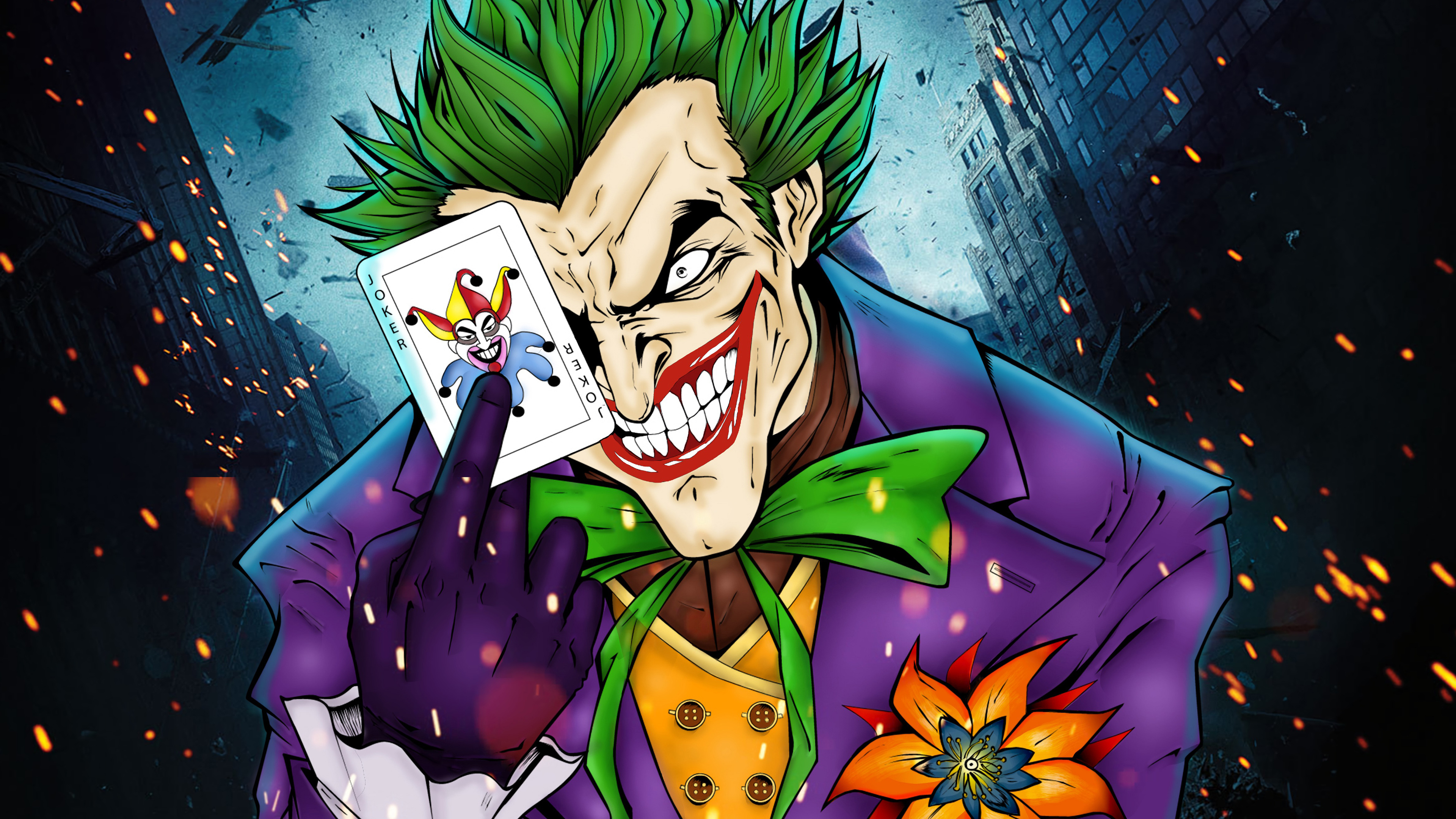 Joker Art Background High Quality Image HD Wallpapers 3840x2160