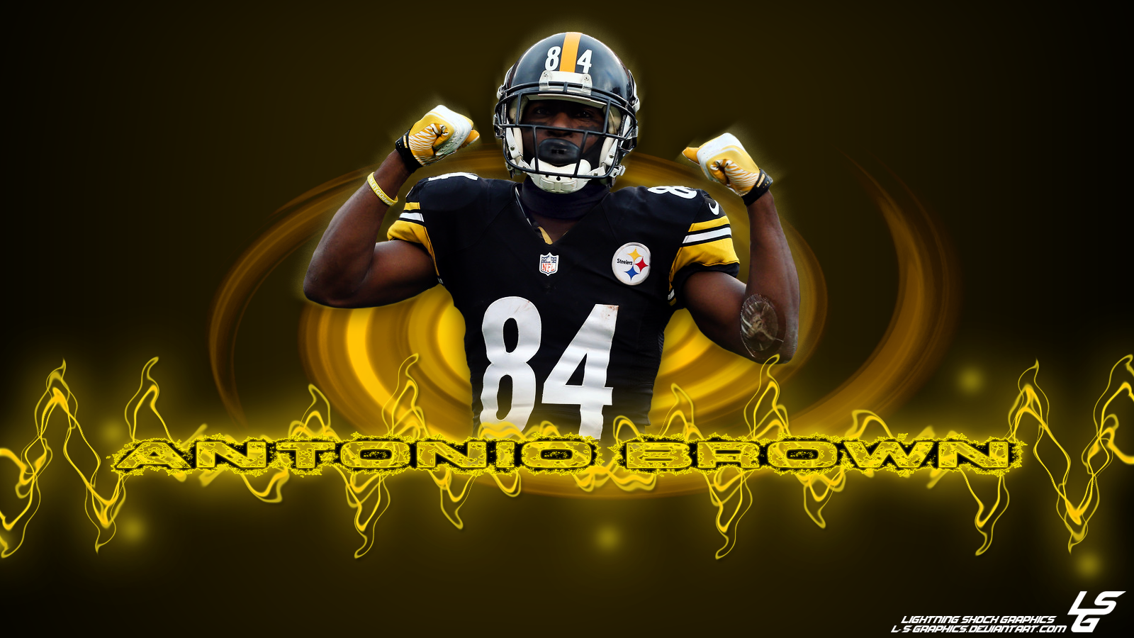 Antonio Brown Wallpaper Antonio brown yellow desktop 1600x900