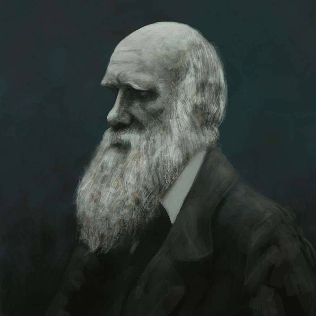 Picture Charles Darwin Beard Celebrities Painting Art 1024x1024