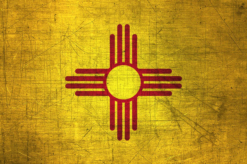 New Mexican Flag Metal Flag of New Mexico   Download it for 800x533