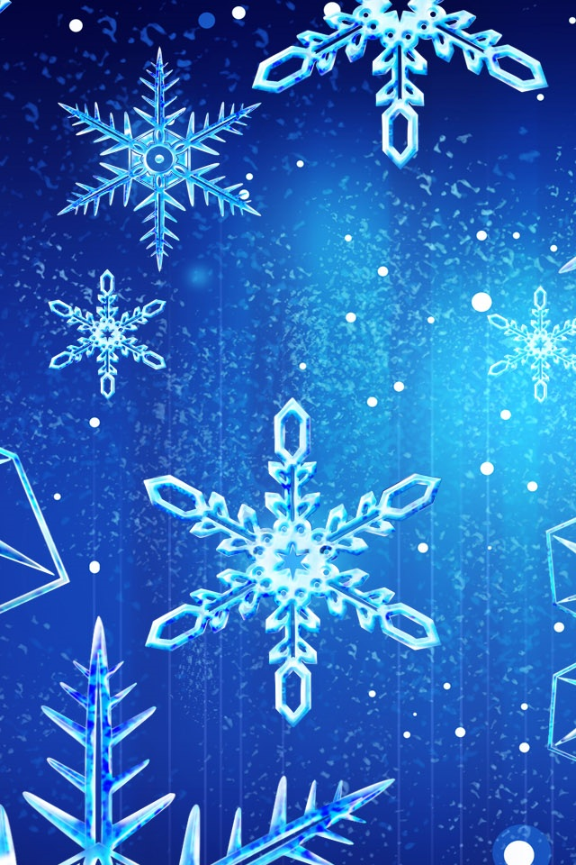 Snow Flakes iPhone 4s Wallpaper Download iPhone Wallpapers iPad 640x960