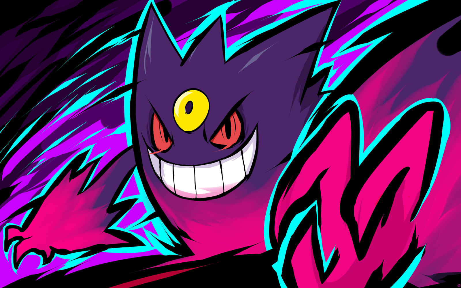 Mega Gengar Nightmare by ishmam 1600x1000
