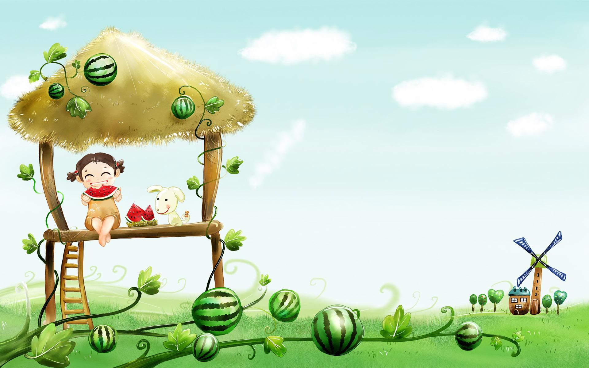 Wallpaper Desktop Cartoon Cute Download HD Wallpapers 1920x1200