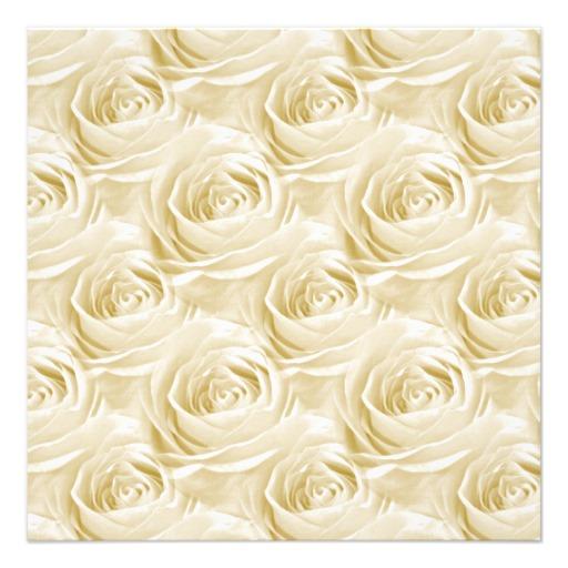 Cream Colored Rose Wallpaper Pattern 525x525 Square Paper Invitation 512x512