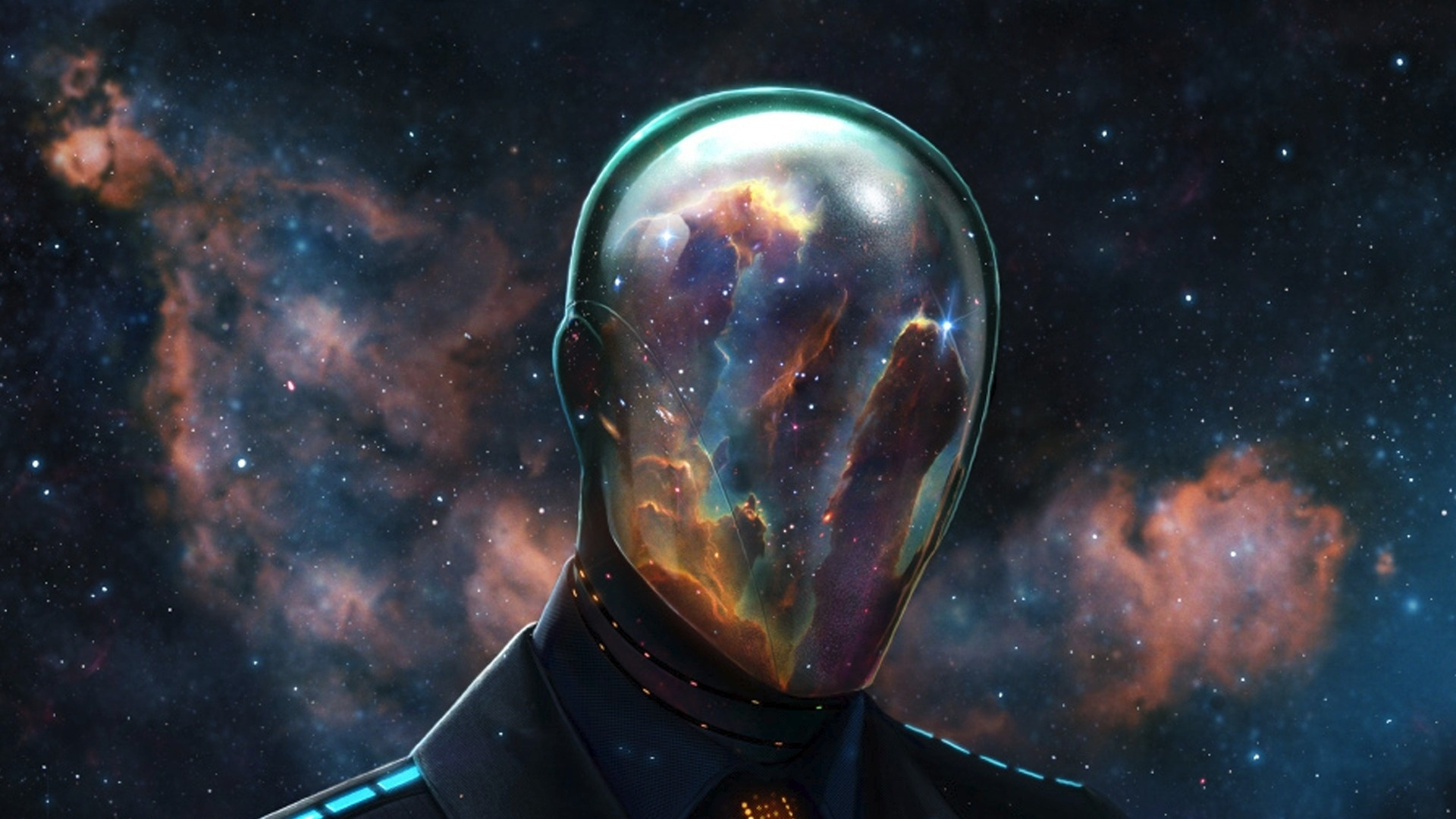 Download epic reflective space mask HD wallpaper 1920x1080