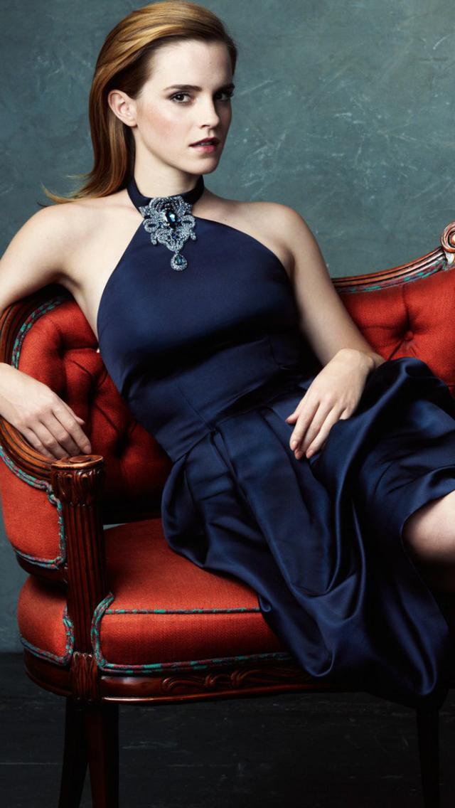 Free Download Emma Watson Long Hair Fashion Wallpaper Iphone