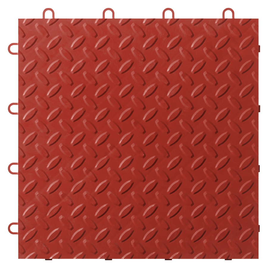 12 in x 12 in Red Tread Plate Garage Flooring Tile at Lowescom 900x900