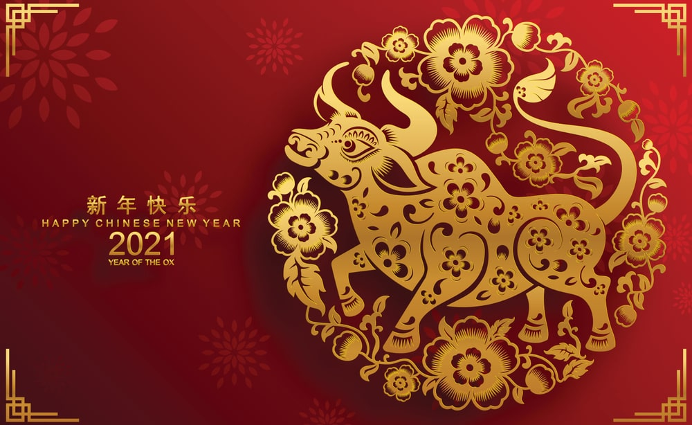Chinese New Year 2021 Images Wallpaper Pictures Happy Bull 2021 1000x614