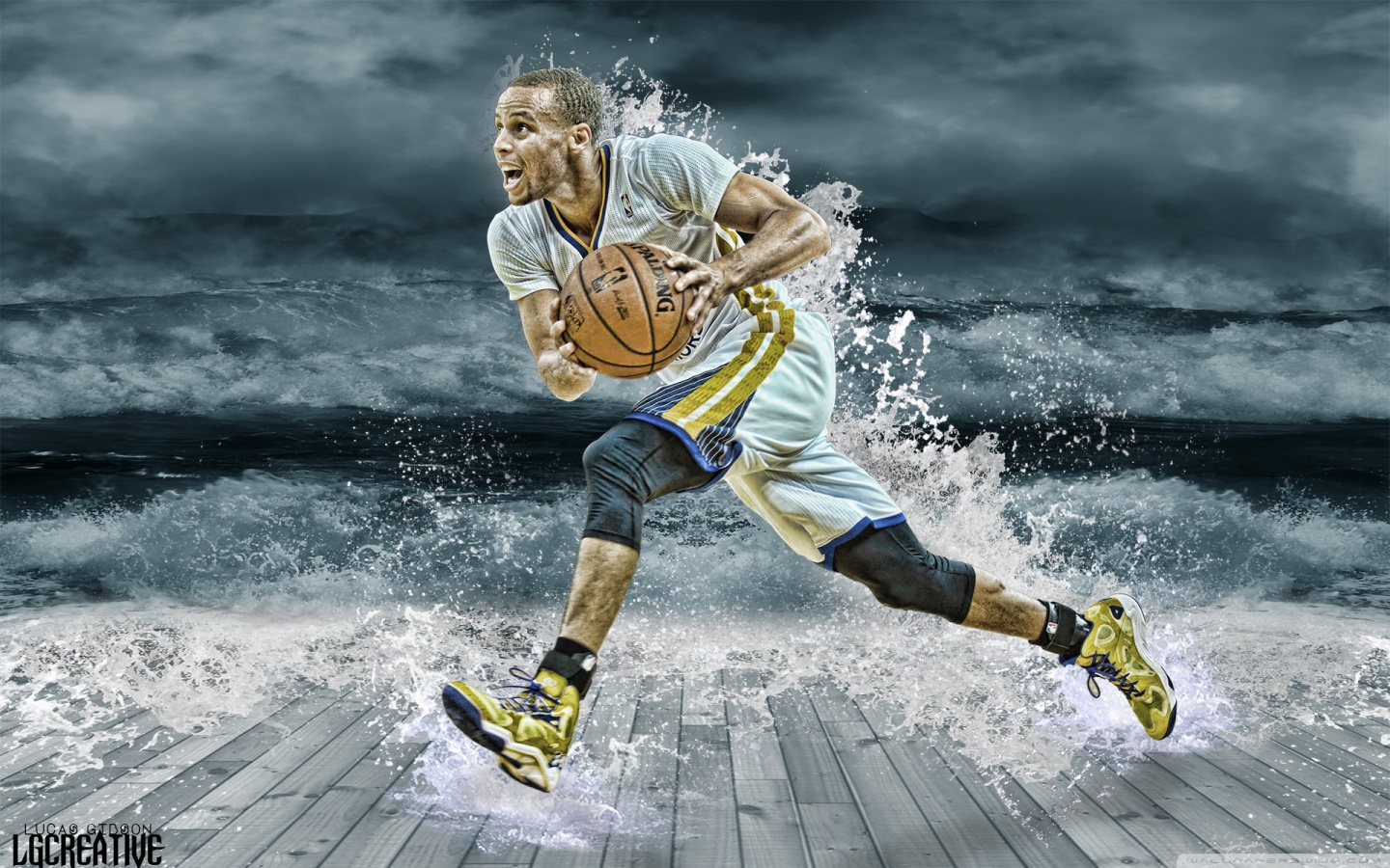 FunMozar Stephen Curry Splash Wallpaper 1440x900