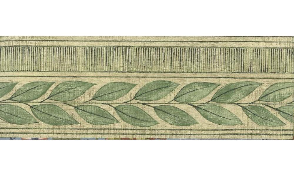 Home Leaves Stripes Wallpaper Border 1000x600