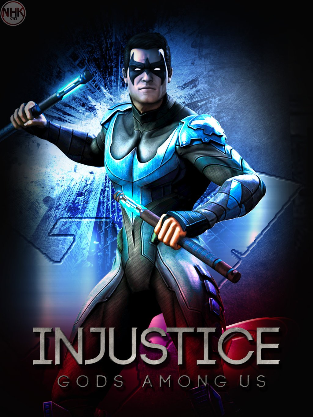 Nightwing Injustice Skins Injustice nightwing poster by 1024x1365