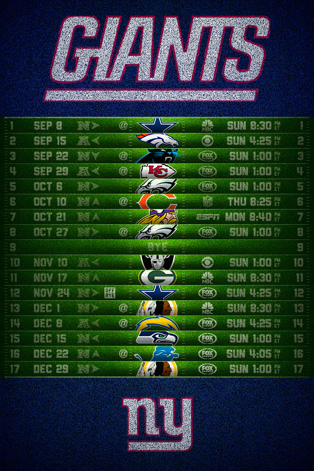 picture regarding New York Giants Printable Schedule named 49+] SF Giants 2014 Program Wallpaper upon WallpaperSafari