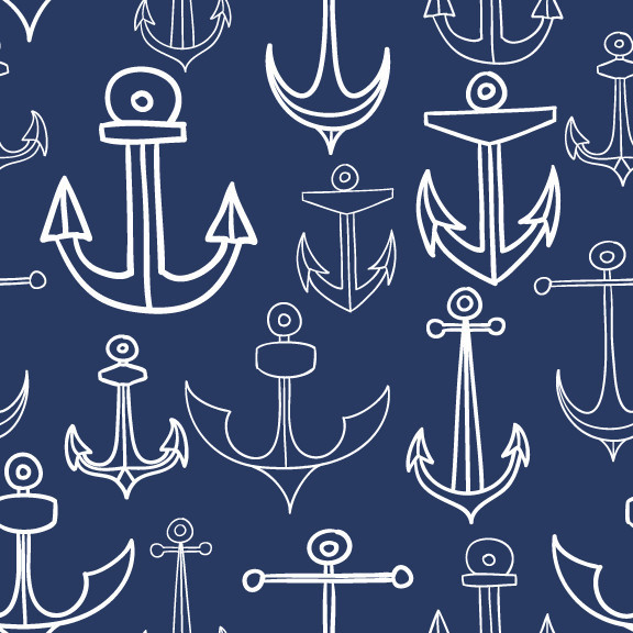 Removable Wallpaper   Anchors Aweigh contemporary wallpaper 576x576