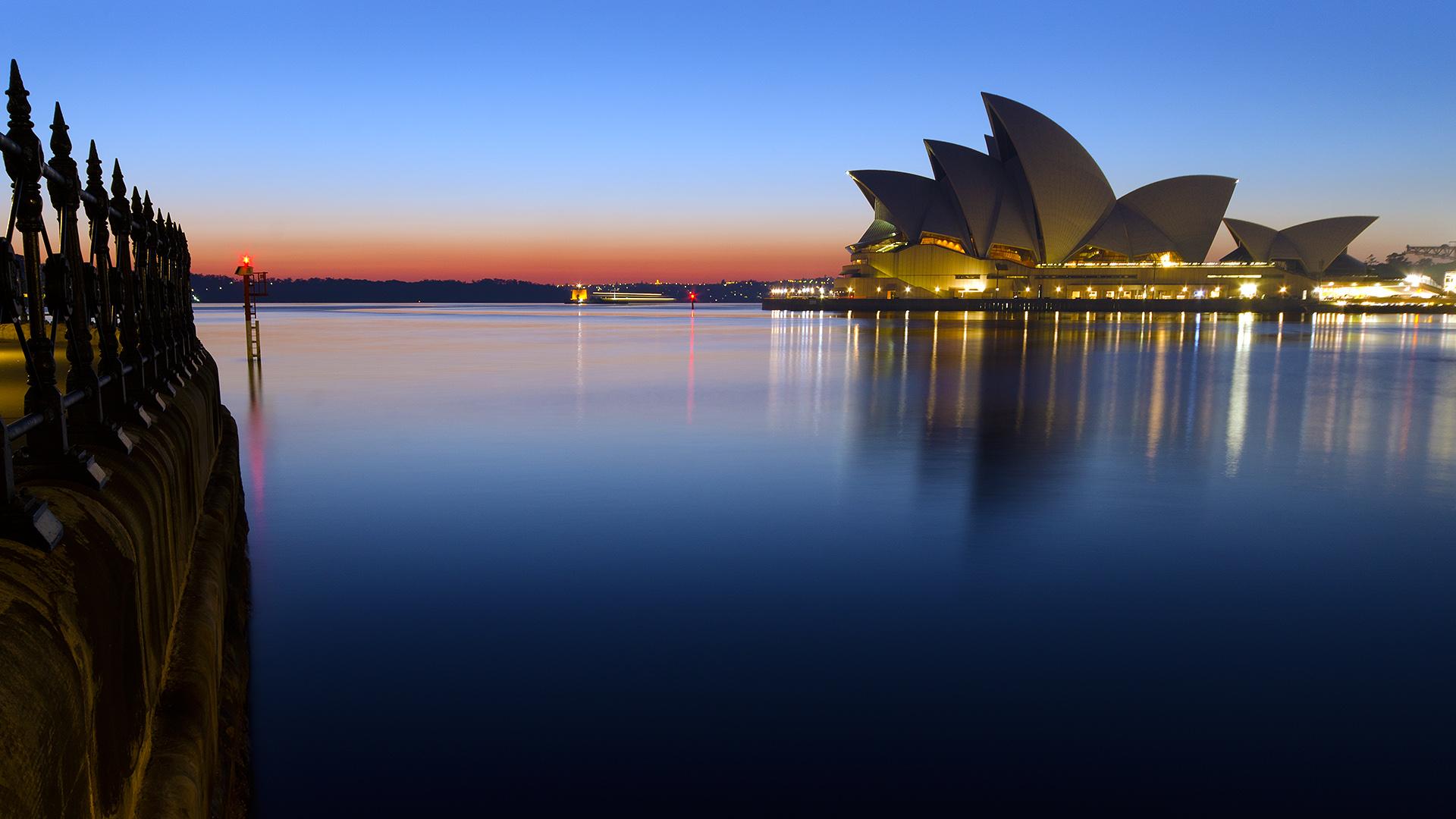 Sydney Opera House Sunset Wallpaper Travel HD Wallpapers 1920x1080
