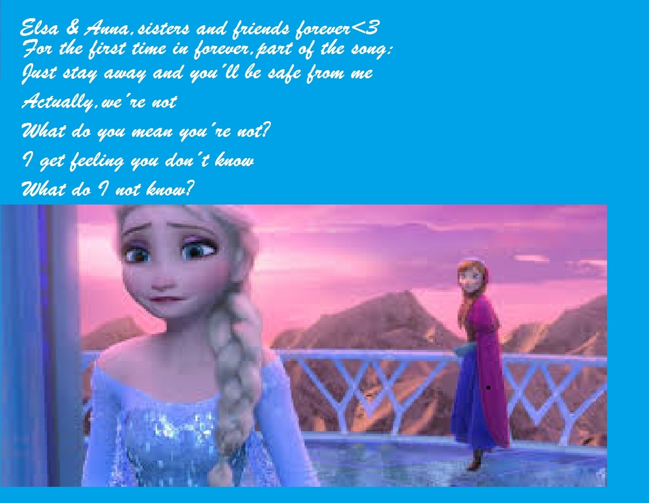 Frozen for the first time in forever Anna Elsa   Frozen Wallpaper 1285x996