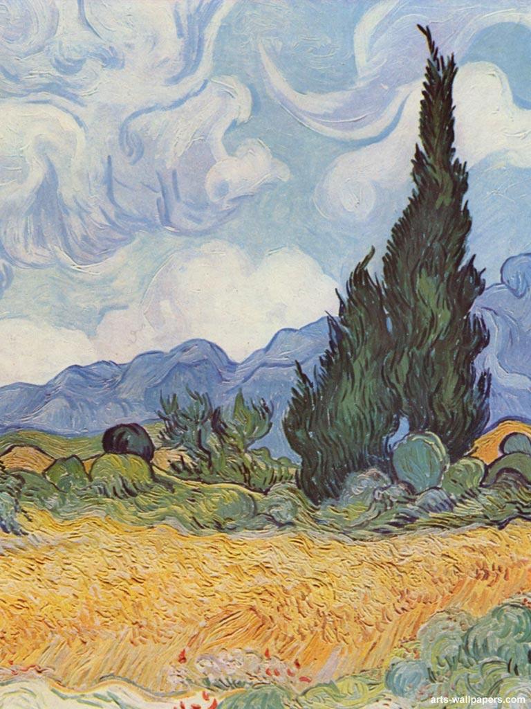 van Gogh iPad Wallpapers Vincent van Gogh Apple iPad Wallpaper 768x1024