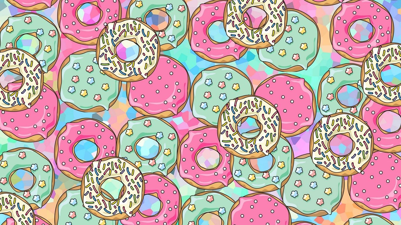 Donut Laptop Wallpapers   Top Donut Laptop Backgrounds 1366x768