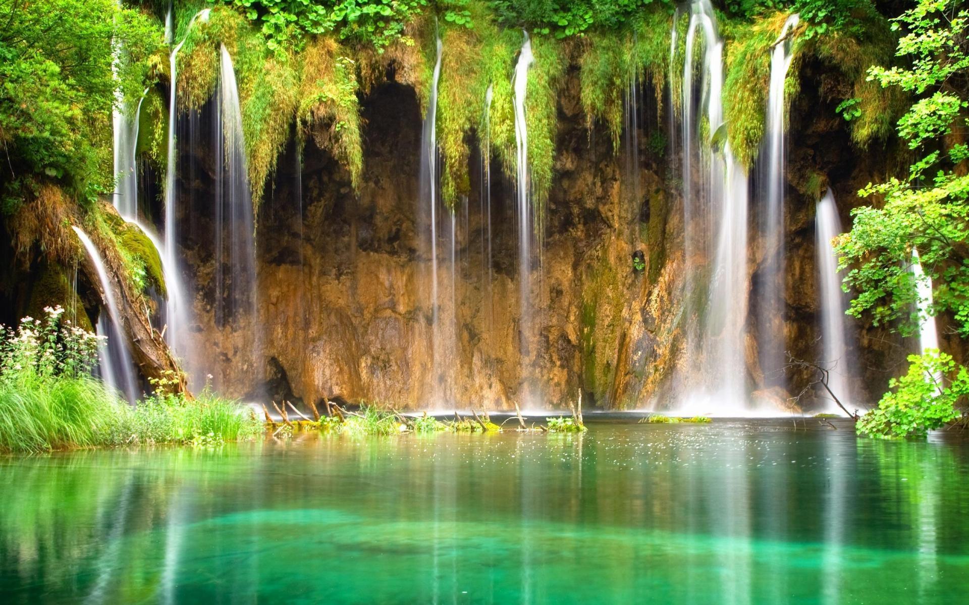 Hd wallpaper spring - Spring Waterfall Hd Free Desktop Hd Wallpaper