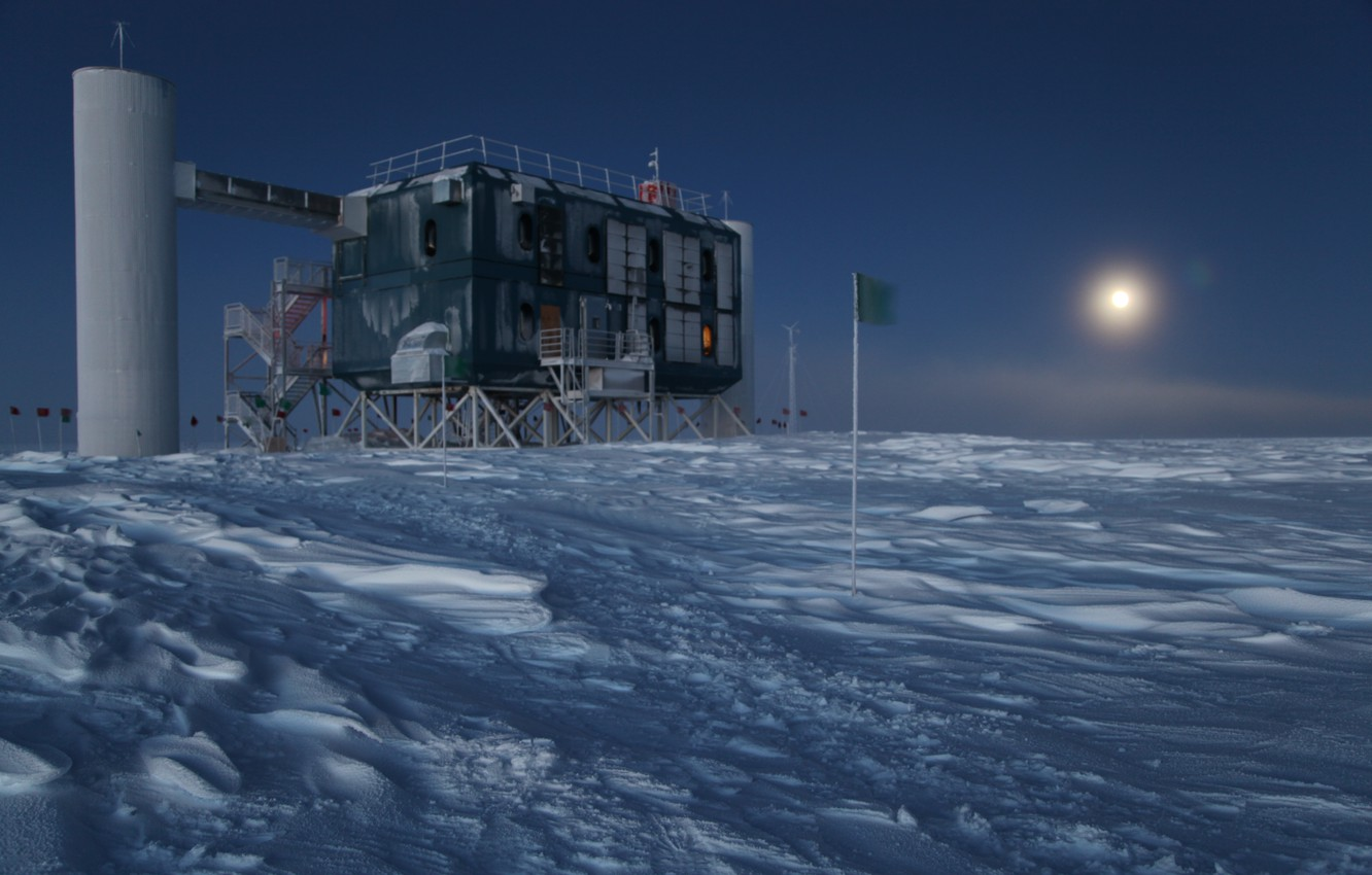 Wallpaper cold night Antarctica Cube Observatory Observatory 1332x850