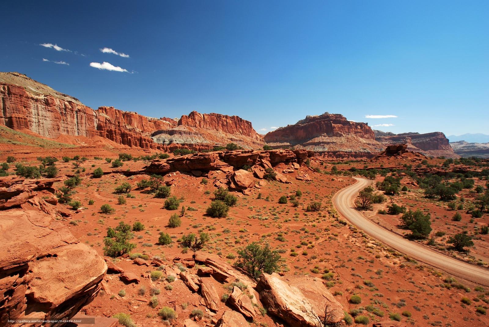 Download wallpaper Capitol Reef National Park Utah USA Rocks 1600x1071