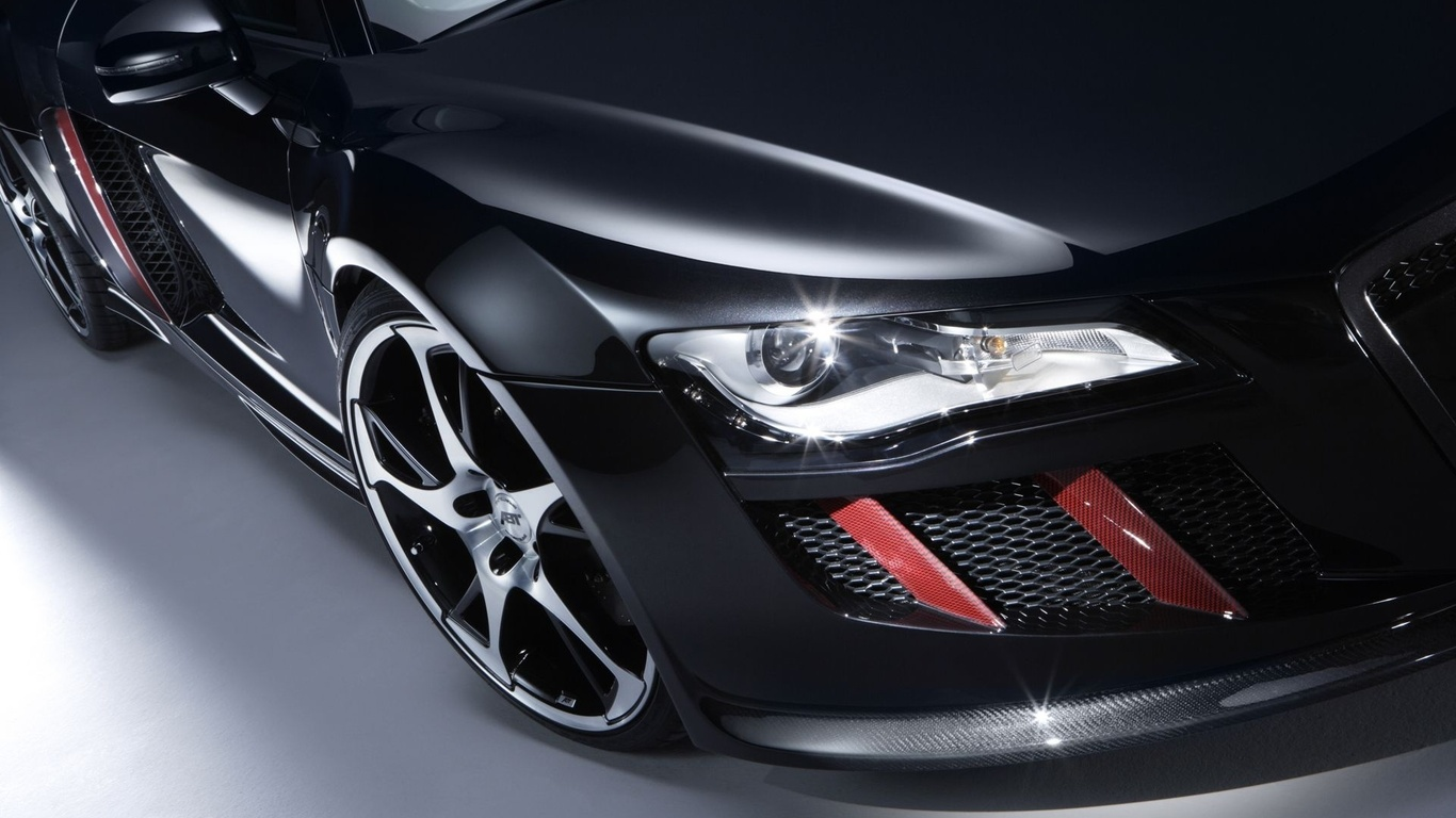 Audi negro guapo Audi R8 coches pantalla ancha Imgenes HD y de 1366x768