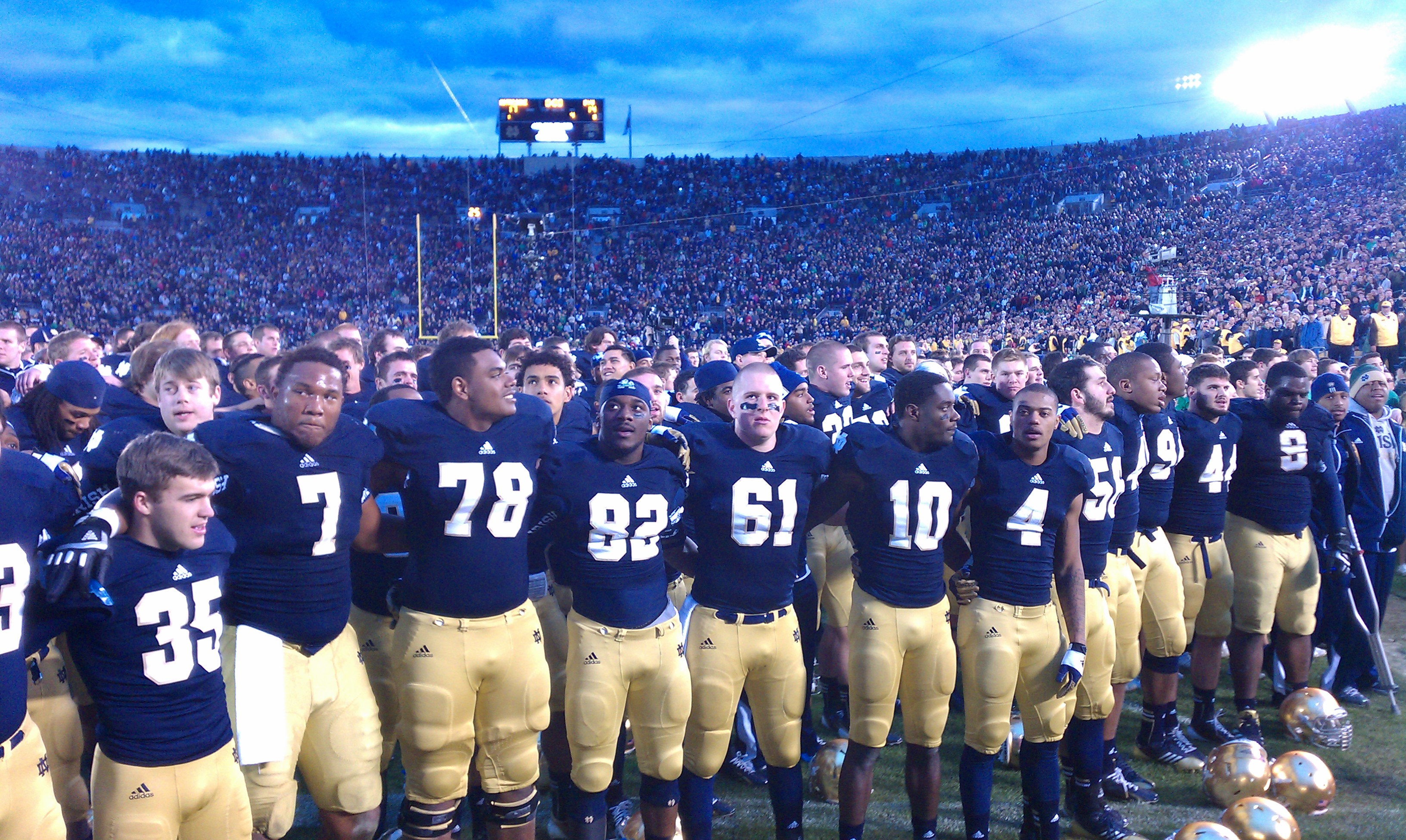 Notre dame football pictures gallery