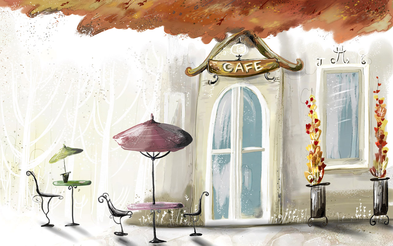 Autumn Cafe Wallpapers   HD Wallpapers 7449 1280x800