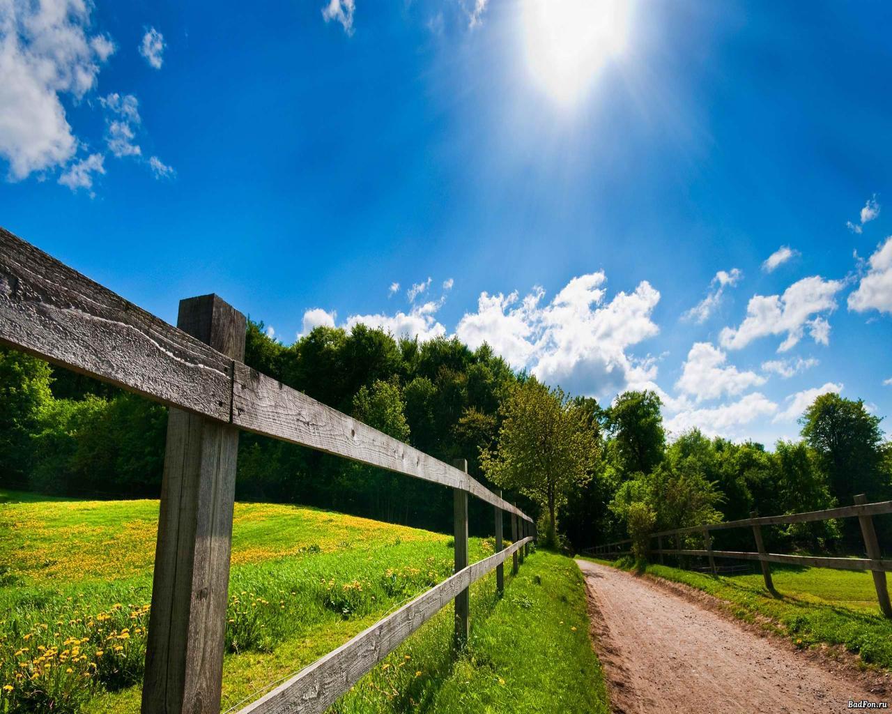 Beautiful Sunny Day Wallpaper   Picseriocom 1280x1024