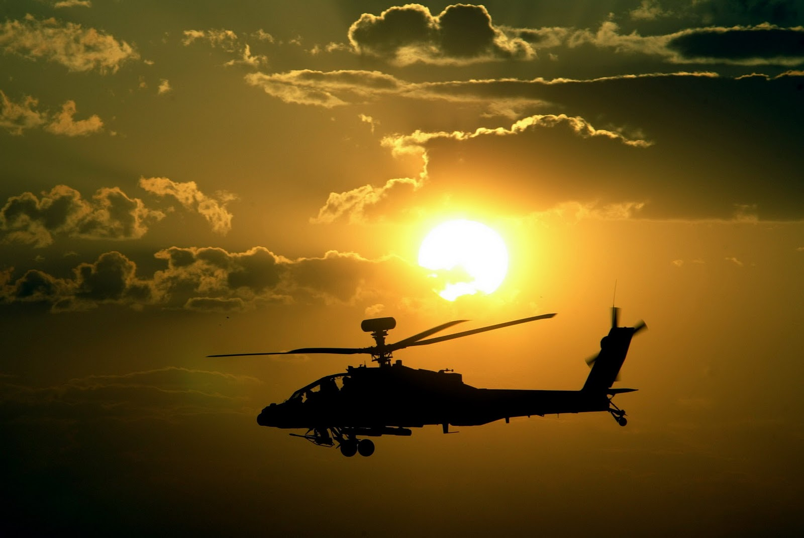 Apache Helicopters Sunset HD Wallpapers Download Wallpapers in HD 1600x1070