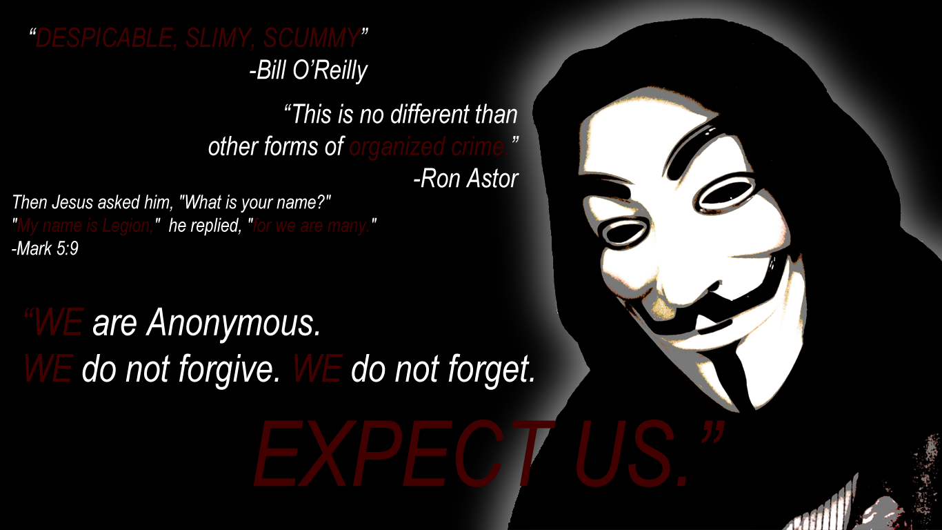 Anonymous Wallpaper 1366x768 ImageBankbiz 1366x768