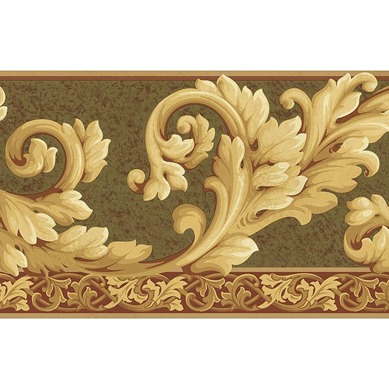 Wallpaper Border Architectural Acanthus Wave Border 800x800