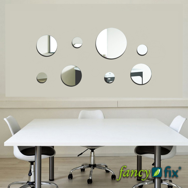 Peel and Stick Mirror Wall Decals Self adhesive Reflections Effect 600x600