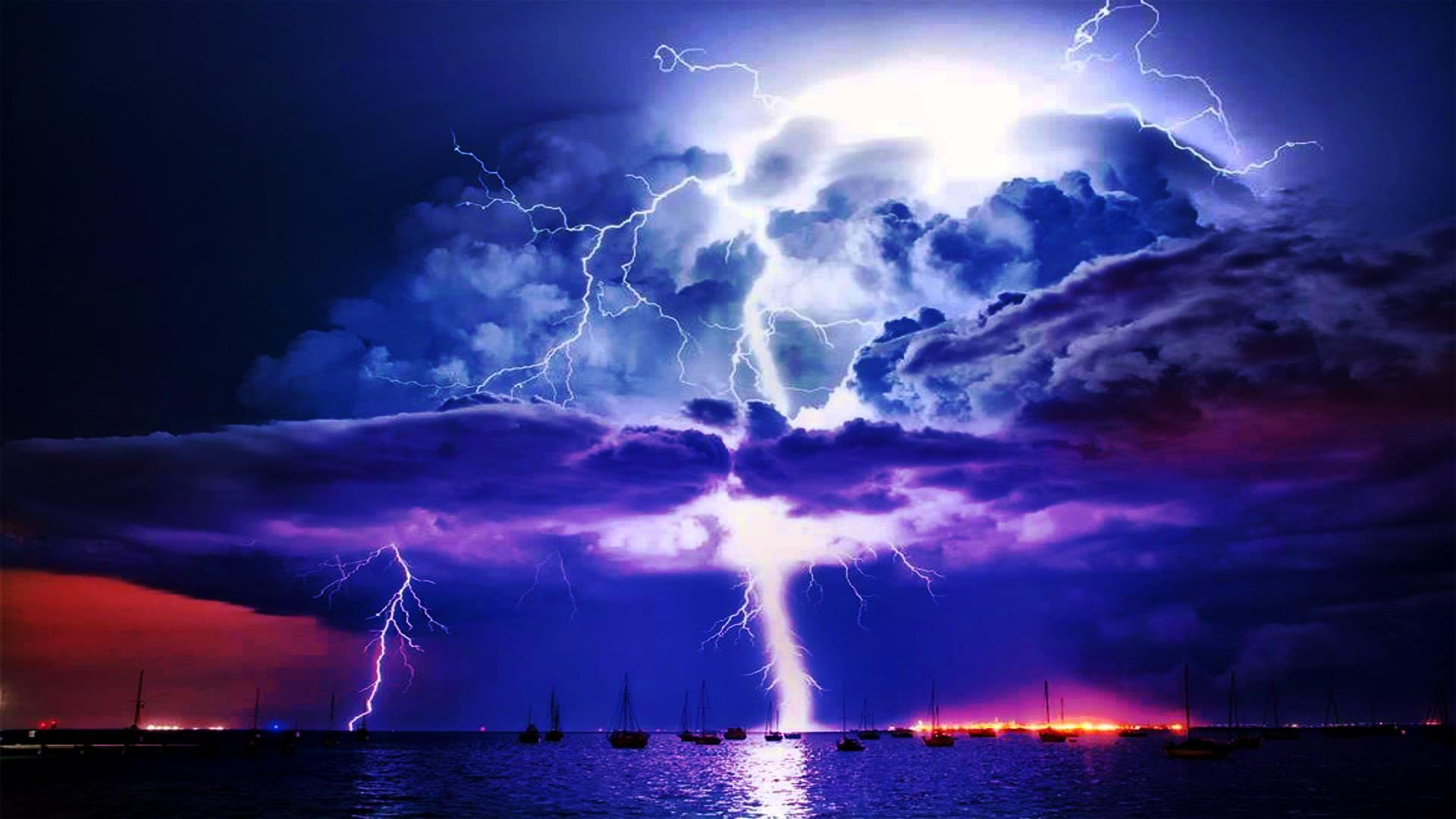 Image Gallery lightning storm wallpaper 1920x1080