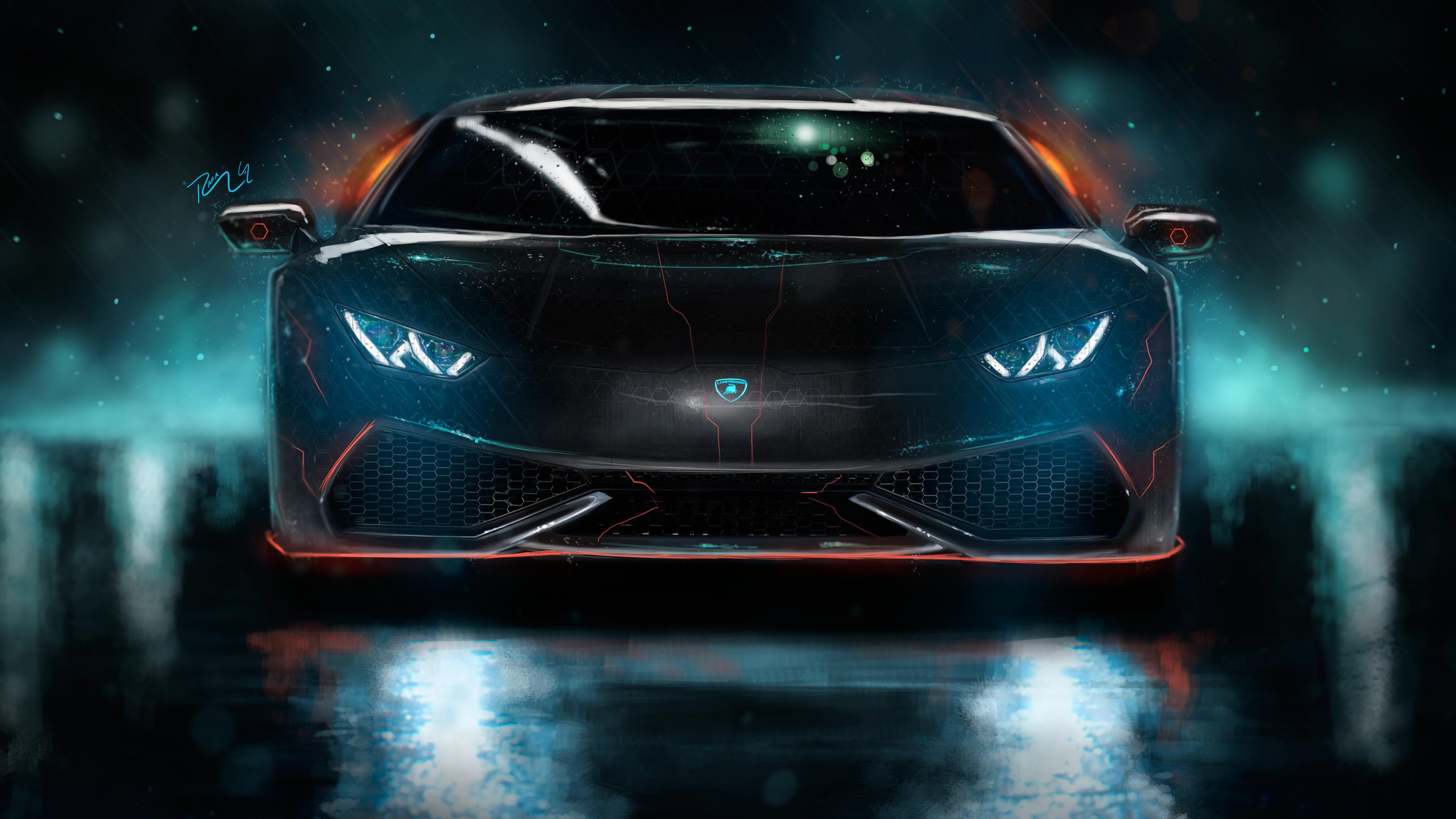 Lamborghini Huracan Custom CGI 4K Wallpaper HD Car Wallpapers 3840x2160