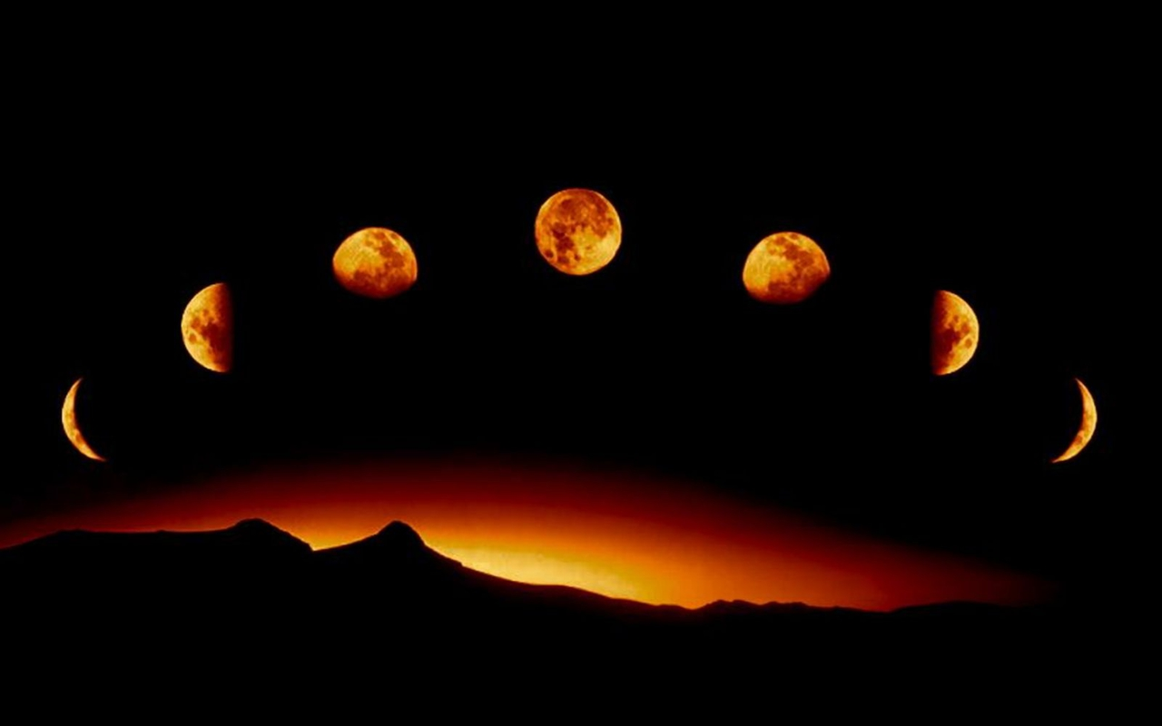commedia271653Orange Phase of Our Wonderful Moon Wallpaper 1280x800