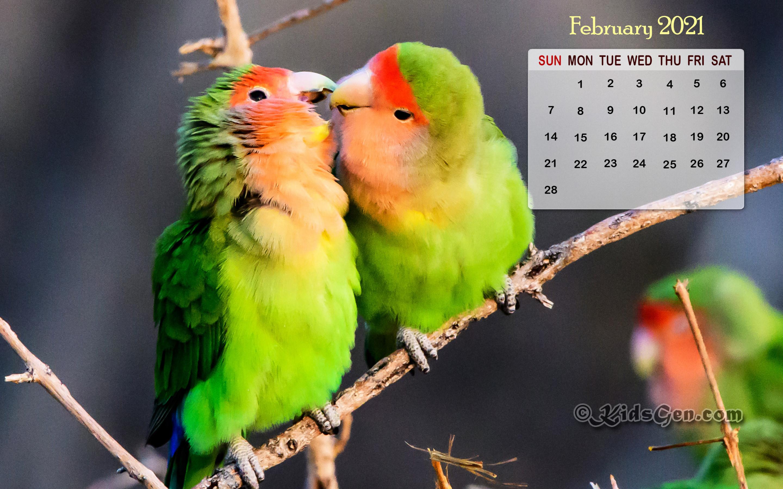 February Calendar Wallpaper   2021