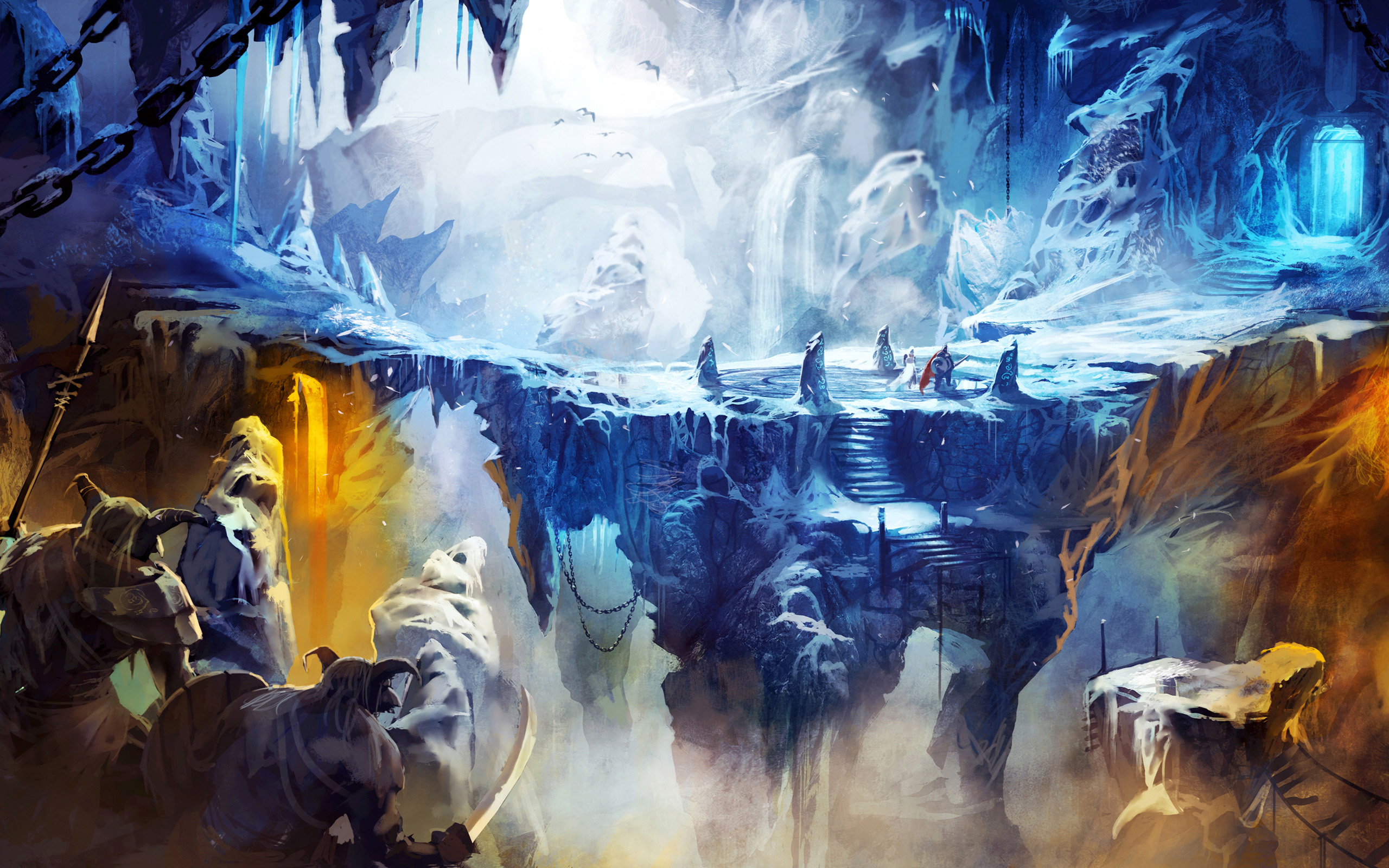 Frozen Cave in Trine 2 Wallpapers HD Wallpapers 2560x1600