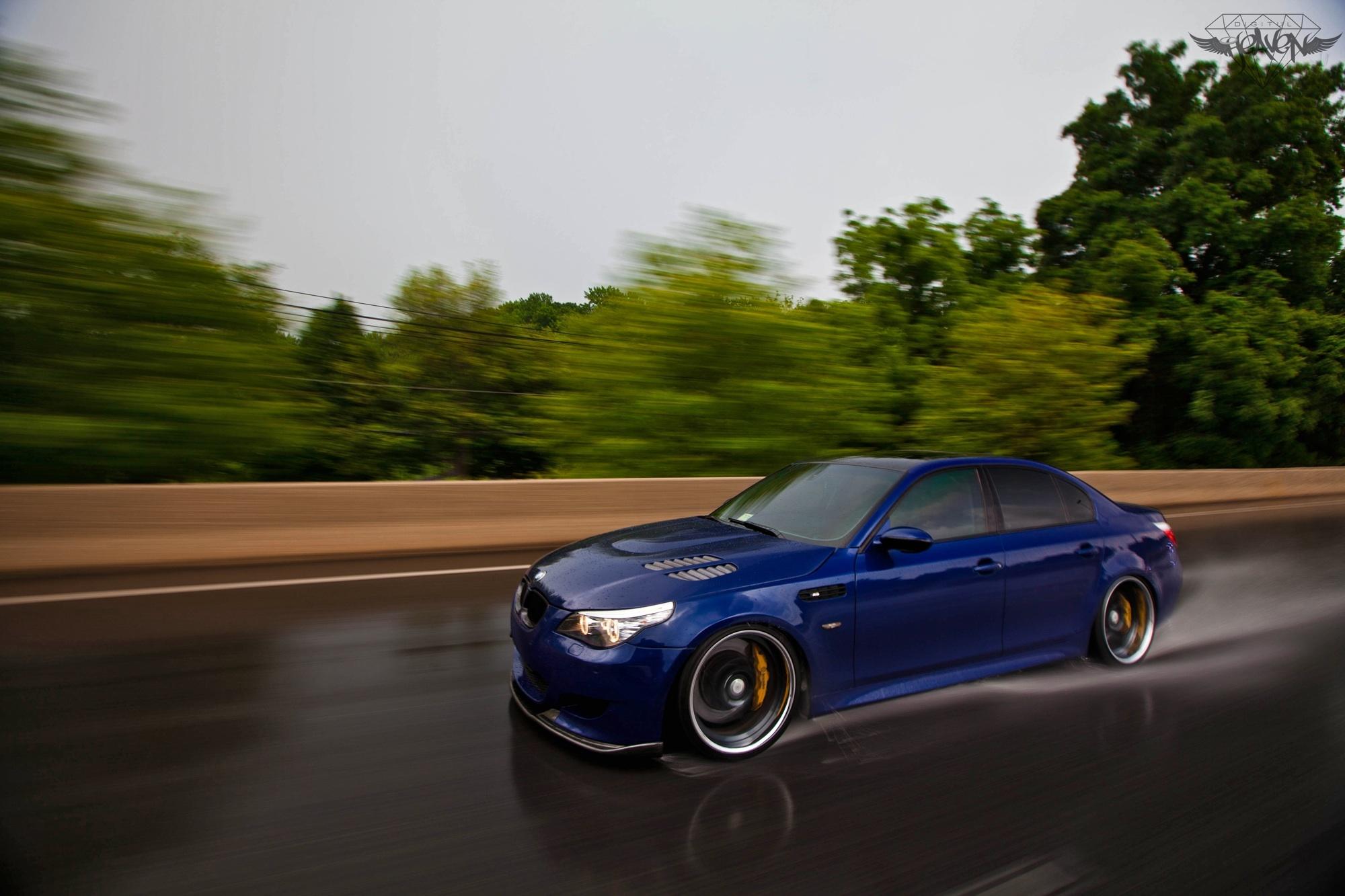 2006 Interlagos blue BMW M5 E60 Pictures Mods Upgrades Wallpaper 2000x1333