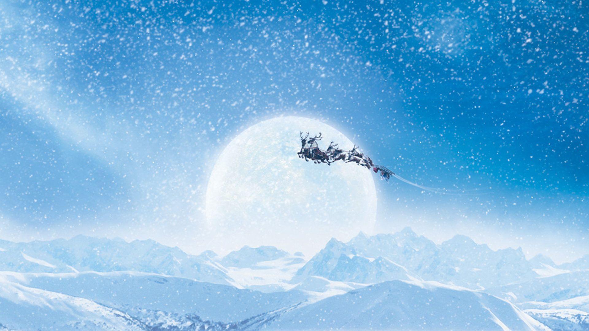 Santas Hat Holiday Christmas Abstract Hd Wallpaper 1920x1080