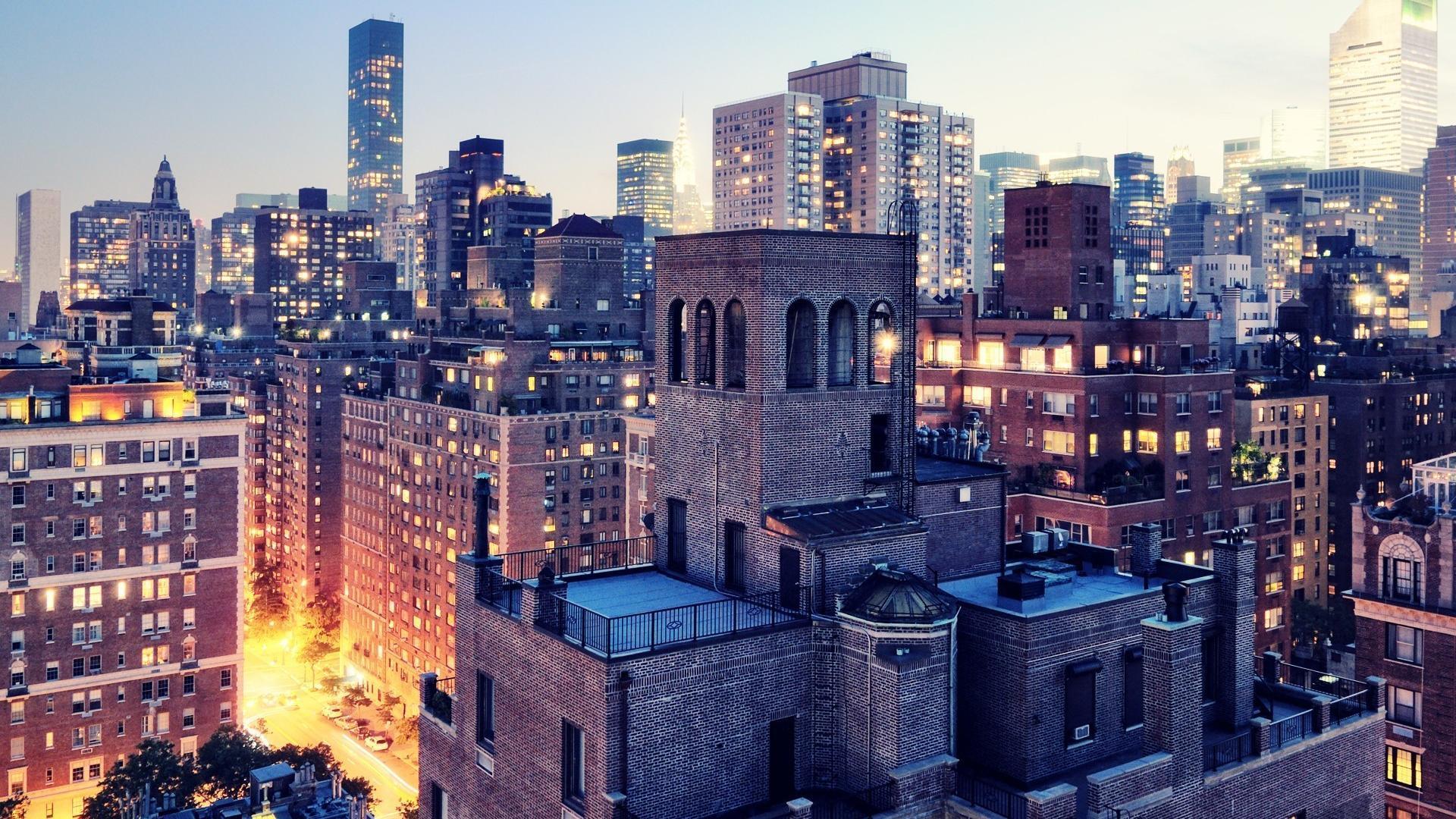 Inter Manhattan Street HD Wallpaper Background Images 1920x1080